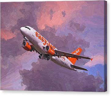 easyJet Airbus A319 take off Canvas Print