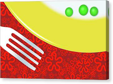 Eat Your Peas Canvas Print by Richard Rizzo