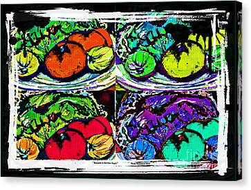 Eat Your Veggies Canvas Print by Mindy Newman