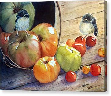 Eat Your Veggies Canvas Print by Patricia Pushaw