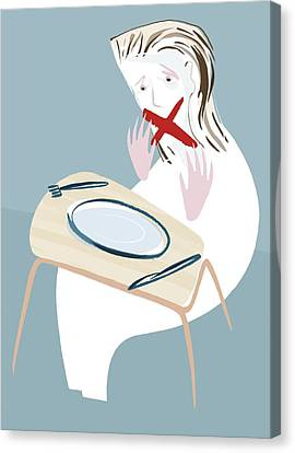 Eating Disorder, Conceptual Artwork Canvas Print by Paul Brown