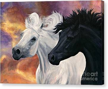 Ebony And Ivory Canvas Print