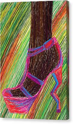 Ebony In High Heels Canvas Print by Kenal Louis