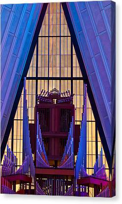 Echo Of The Pipes Canvas Print by Colleen Coccia