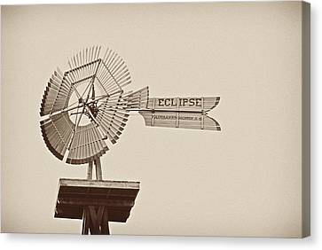 Eclipse Windmill 3578 Canvas Print by Michael Peychich