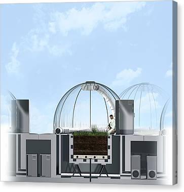 Ecotron Project, Artwork Canvas Print by Claus Lunau