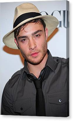 Ed Westwick At Arrivals For Express Canvas Print by Everett