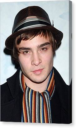 Ed Westwick At Arrivals For Opening Canvas Print by Everett