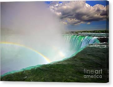 Edge Of Niagara Falls  Canvas Print by Charline Xia