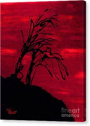 Edge Of Night Canvas Print