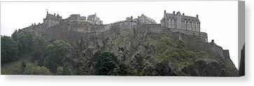 Canvas Print featuring the photograph Edinburgh Castle by David Grant