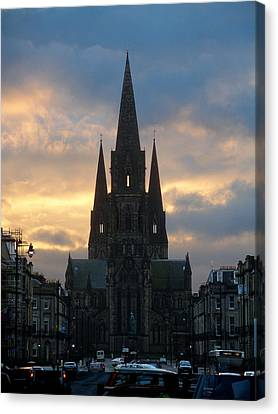 Canvas Print featuring the photograph Edinburgh Cathedral by Rod Jones