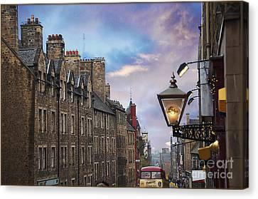 Edinburgh Mile Canvas Print by Jeanne  Woods