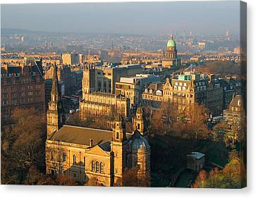 Register Canvas Print - Edinburgh On A Winter's Day by Christine Till