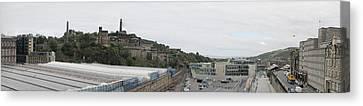 Edinburgh Station Panorama Canvas Print by Ian Kowalski