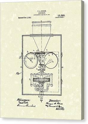 Edison Kinetoscope 1911 I Patent Art Canvas Print by Prior Art Design