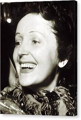 Edith Piaf, Late 1940s Canvas Print by Everett