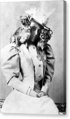 Edith Wharton, 1862-1937, American Canvas Print by Everett