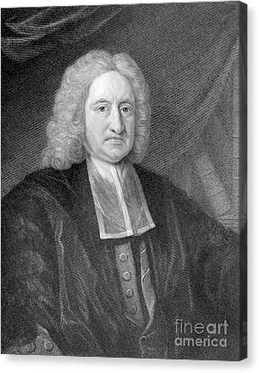 Edmond Halley, English Polymath Canvas Print by Photo Researchers