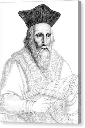 Edward Kelley, English Alchemist Canvas Print by Science Source