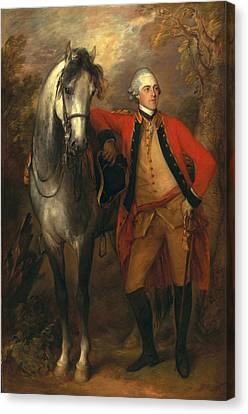 Edward Viscout Ligonier Canvas Print by Thomas Gainsborough