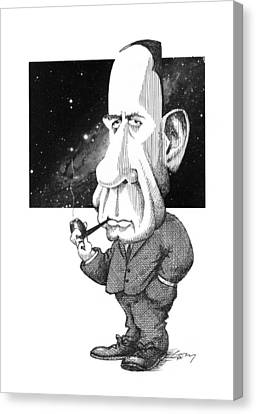Edwin Hubble, Us Astronomer Canvas Print by Gary Brown