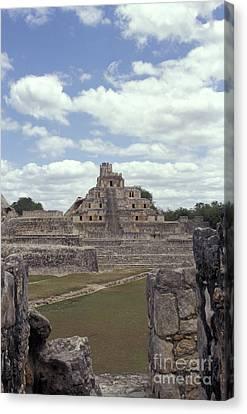Edzna Mayan Ruins Canvas Print by John  Mitchell