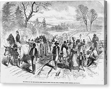 Effects Of Emancipation Proclamation Canvas Print by Photo Researchers