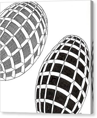 Egg Drawing 060026 Canvas Print