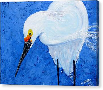 Egret Hunting Canvas Print