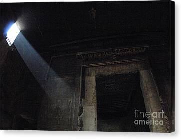 Dendera Canvas Print - Egypt Interior Chamber Dendera by Bob Christopher