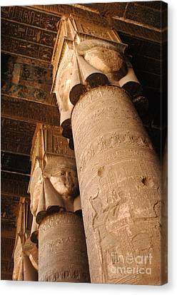 Egypt Temple Of Dendara Canvas Print by Bob Christopher