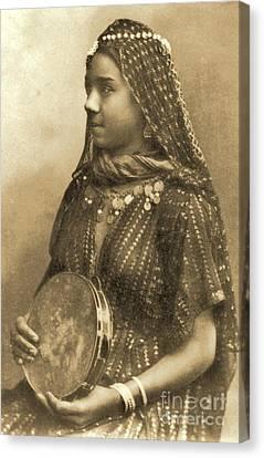 Egyptian Dancing Girl Canvas Print