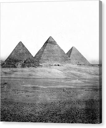 Egyptian Pyramids - C 1901 Canvas Print by International  Images
