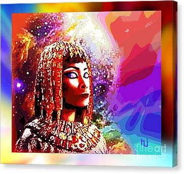 Canvas Print featuring the digital art Egyptian Queen by Hartmut Jager
