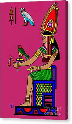 Canvas Print featuring the mixed media Egyptian Royalty by Hartmut Jager