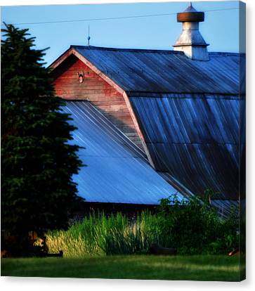 Ehoes Of A Milk Barn Canvas Print by Mary Frances