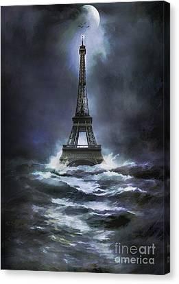 Eiffel   Canvas Print by Andrzej Szczerski