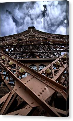 Eiffel In Perspective  Canvas Print by Edward Myers