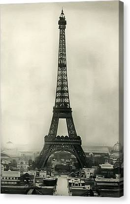 Eiffel Tower 1890 Canvas Print by Bill Cannon