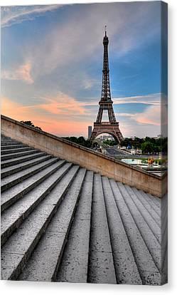 Eiffel Tower At Sunrise, Paris Canvas Print