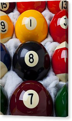 Eight Ball Canvas Print by Garry Gay