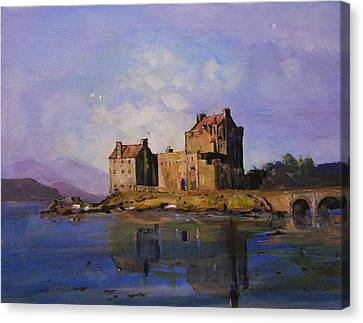 Eilean Donan Castle Canvas Print by Peter Tarrant