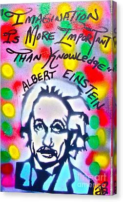 Einstein Imagination Canvas Print by Tony B Conscious