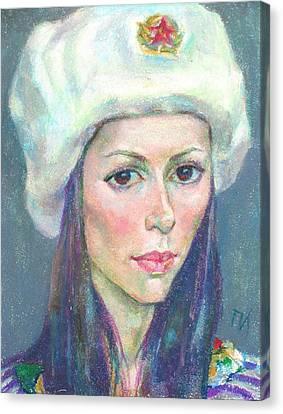 Ekaterina Kindzerskaya Canvas Print by Leonid Petrushin