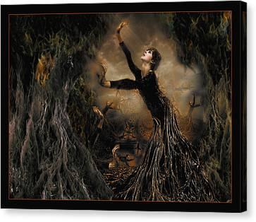 El Arbol De Deseos I Canvas Print by Raul Villalba