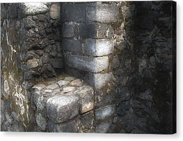 El Cuauhcalli Stonework Canvas Print by John  Bartosik