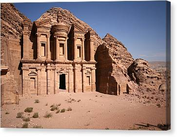 El Deir, The Monastery, Petra, Jordan Canvas Print by Joe & Clair Carnegie / Libyan Soup