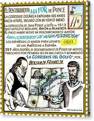 El Descubrimiento Mayor De Ponce Canvas Print