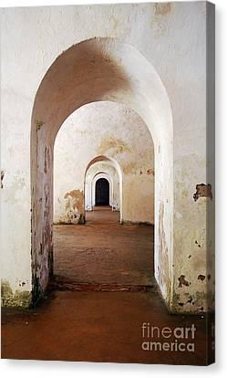 El Morro Fort Barracks Arched Doorways Vertical San Juan Puerto Rico Prints Canvas Print by Shawn O'Brien